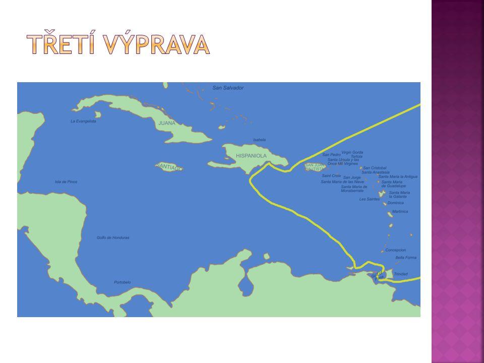  30. května 1498  objevil ostrov Trinidad  přistál u břehů dnešní Venezuely  první kontakt Španělů s pevninou
