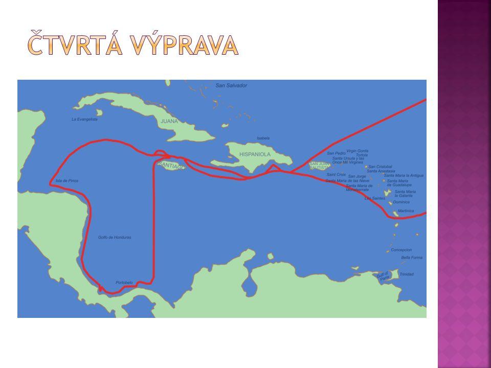  9. května 1502  doplul k břehům Hondurasu  objevil Kostariku a Panamu