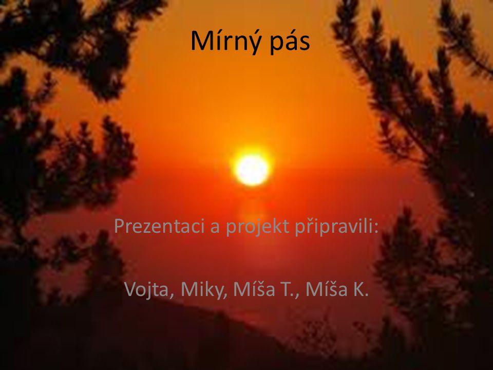 Mírný pás Prezentaci a projekt připravili: Vojta, Miky, Míša T., Míša K.