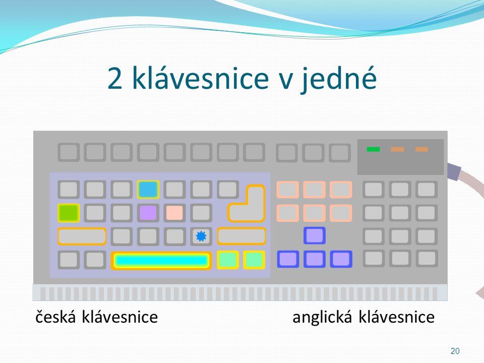 Přepínání mezi klávesnicemi ů 21 : ; CSEN anglickáčeská