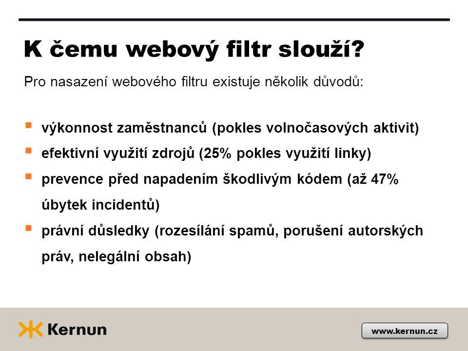 www.kernun.cz K čemu webový filtr slouží.