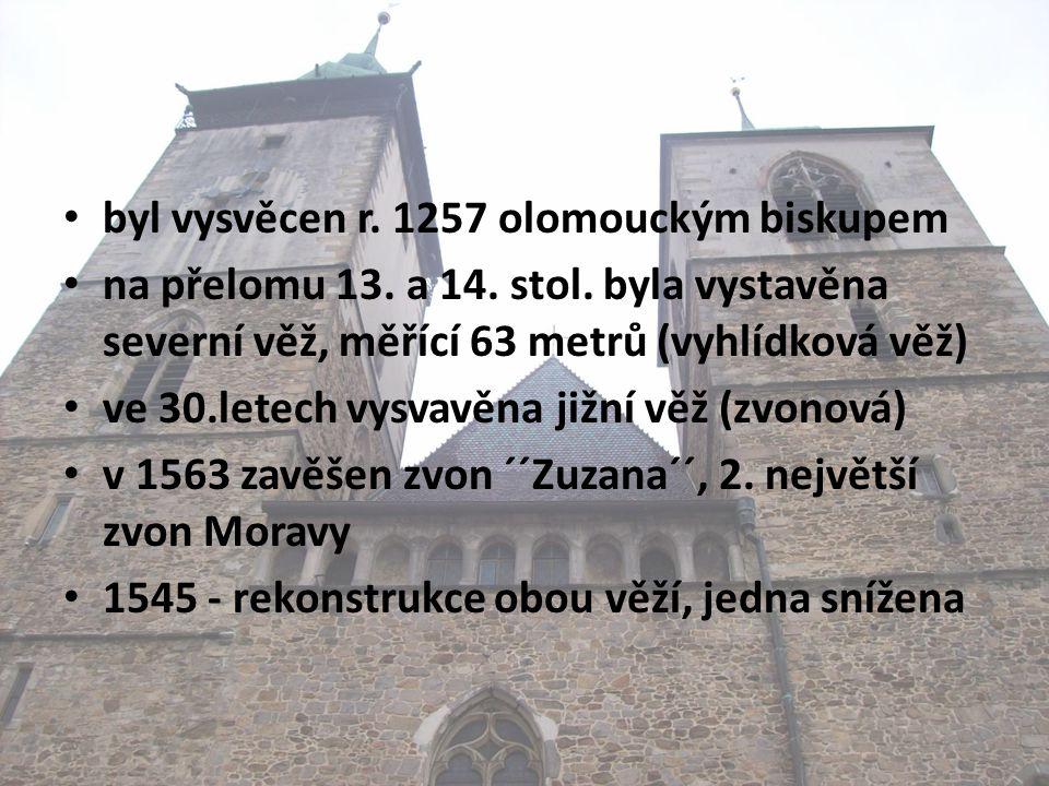 • byl vysvěcen r. 1257 olomouckým biskupem • na přelomu 13.