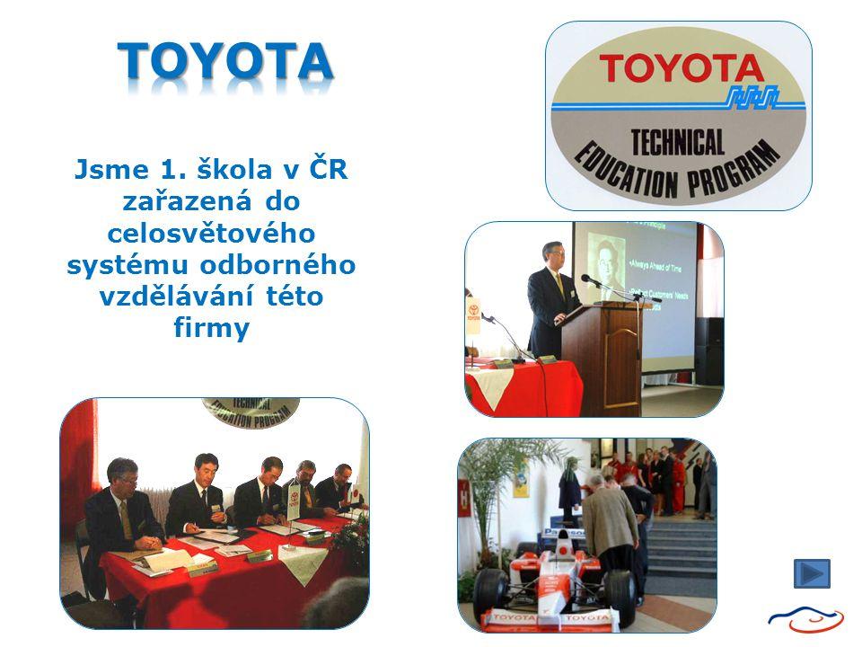 Jsme 1. škola v ČR zařazená do celosvětového systému odborného vzdělávání této firmy