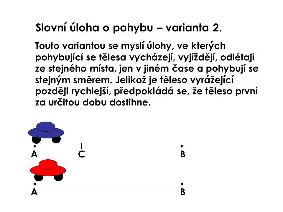 Slovní úloha o pohybu – varianta 2.Chodec jde průměrnou rychlostí 4 km/h.