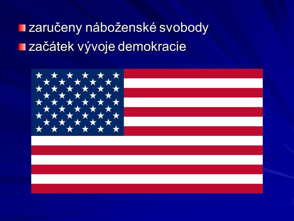 zaručeny náboženské svobody začátek vývoje demokracie