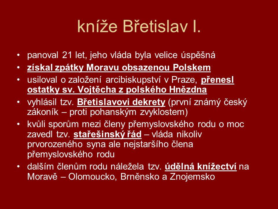 kníže Břetislav I.