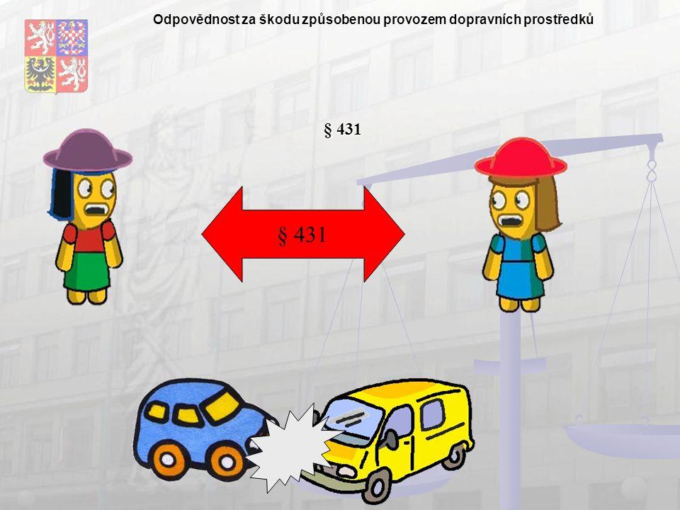 Odpovědnost za škodu způsobenou provozem dopravních prostředků § 431