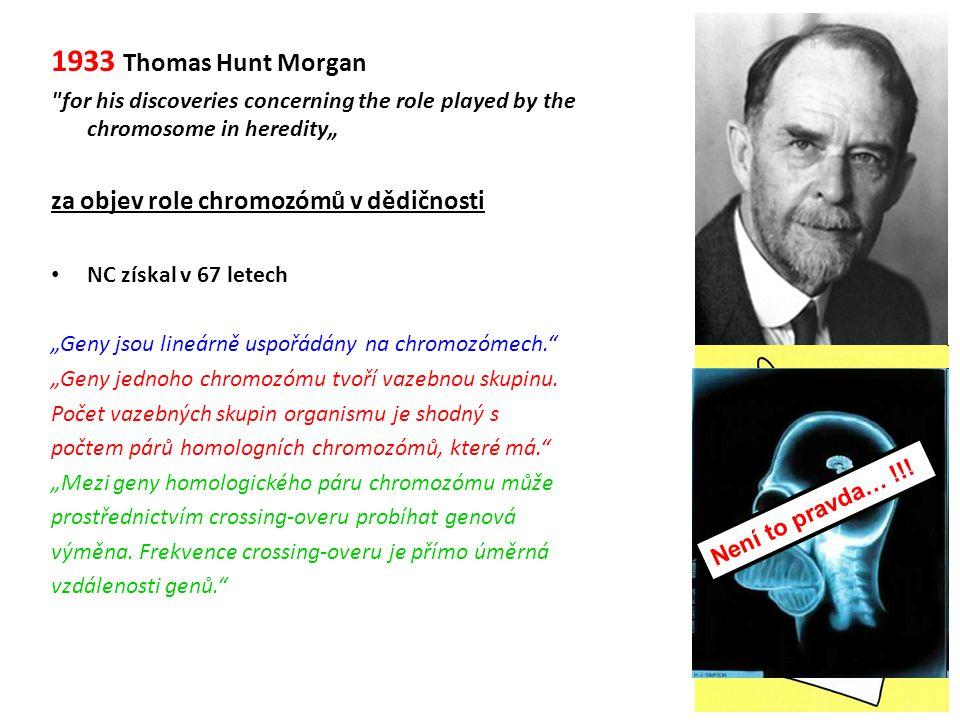 1933 Thomas Hunt Morgan