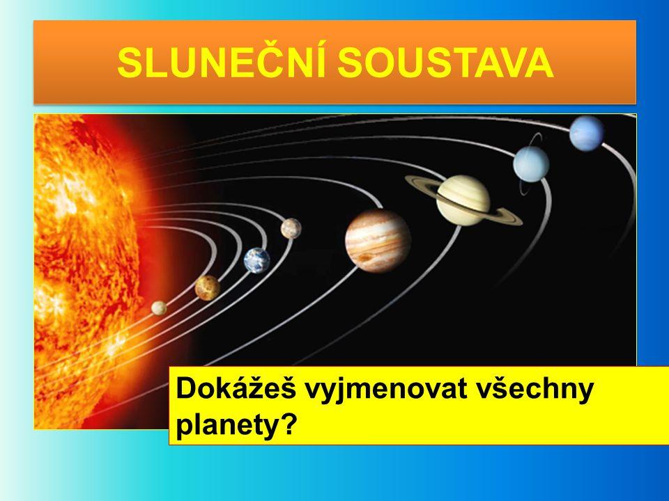SLUNEČNÍ SOUSTAVA Dokážeš vyjmenovat všechny planety?
