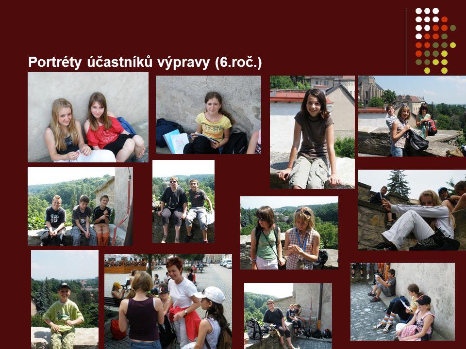 Portréty účastníků výpravy (6.roč.)