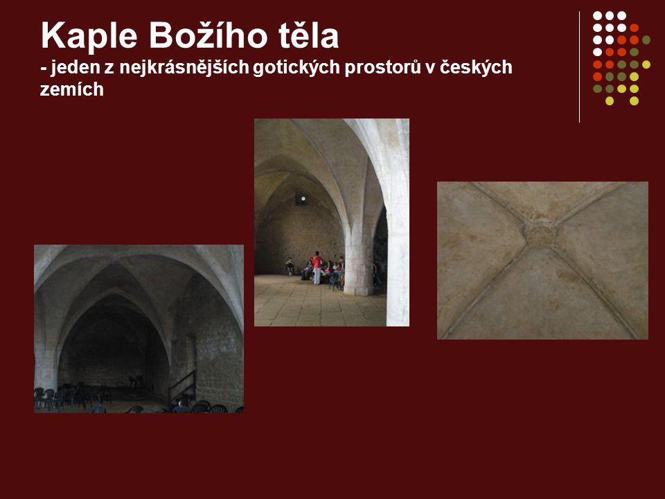 Kaple Božího těla - jeden z nejkrásnějších gotických prostorů v českých zemích
