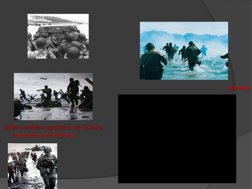 Den D  6.června 1944  Normandie (Francie)  Největší obojživelná akce 2. světové války  V Británii se soustředily asi 3 miliony vojáků Plán na vylo
