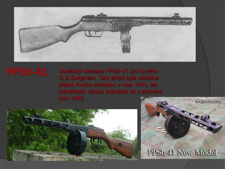 Thompson M1 Zbraň měla pevné hledí Zbraň vycházela z dílny Auto-Ordnance. Po vypuknutí druhé světové války však nestačila kapacita této společnosti na