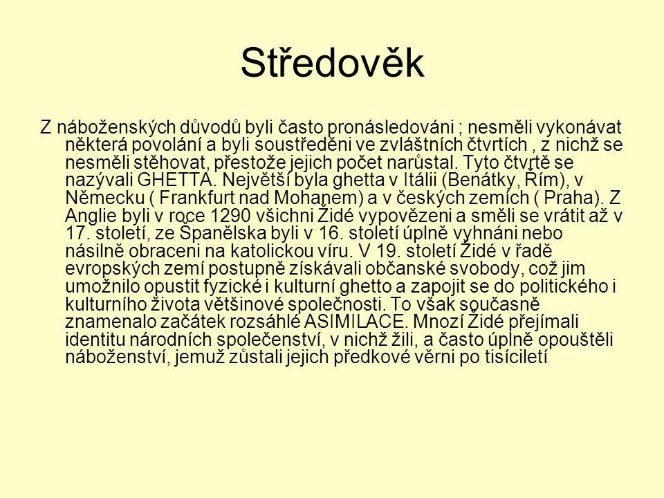 Židé v Čechách Postavení Židů v Českém království právně určil král Přemysl Otakar II., který roku 1254 vydal Židovská statuta (Statuta Judaeorum).