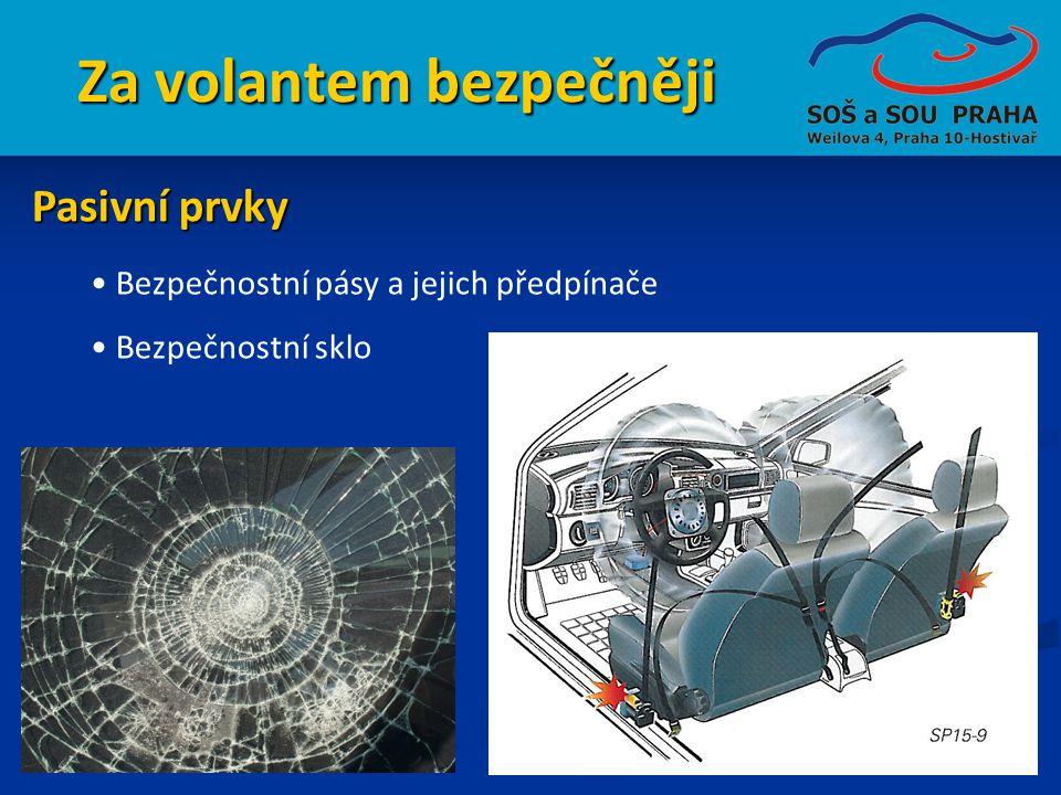Za volantem bezpečněji • Bezpečnostní pásy a jejich předpínače • Bezpečnostní sklo Pasivní prvky