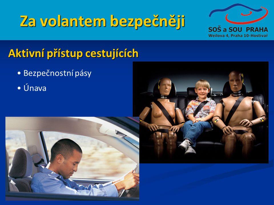 Za volantem bezpečněji • Bezpečnostní pásy Aktivní přístup cestujících • Únava