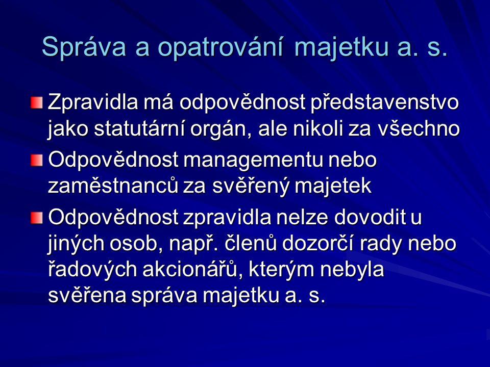 Správa a opatrování majetku a.s.
