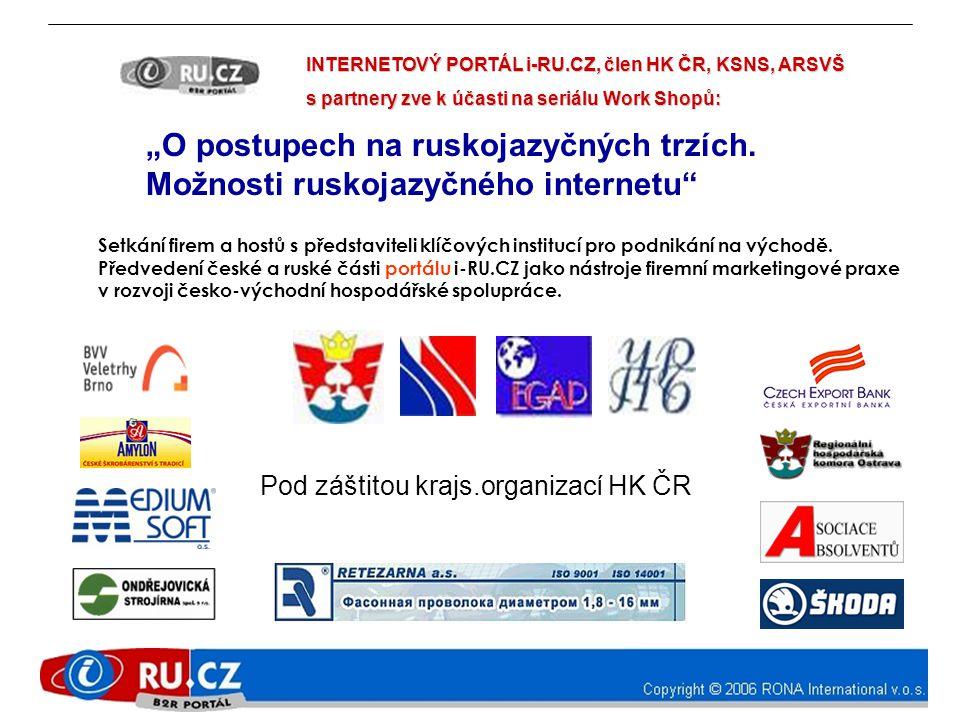 """Pod záštitou krajs.organizací HK ČR """"O postupech na ruskojazyčných trzích."""