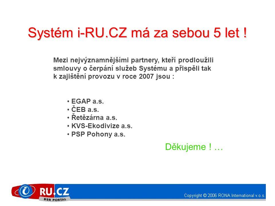 Mezi nejvýznamnějšími partnery, kteří prodloužili smlouvy o čerpání služeb Systému a přispěli tak k zajištění provozu v roce 2007 jsou : • EGAP a.s. •