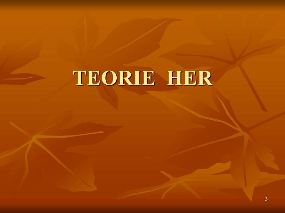 3 TEORIE HER