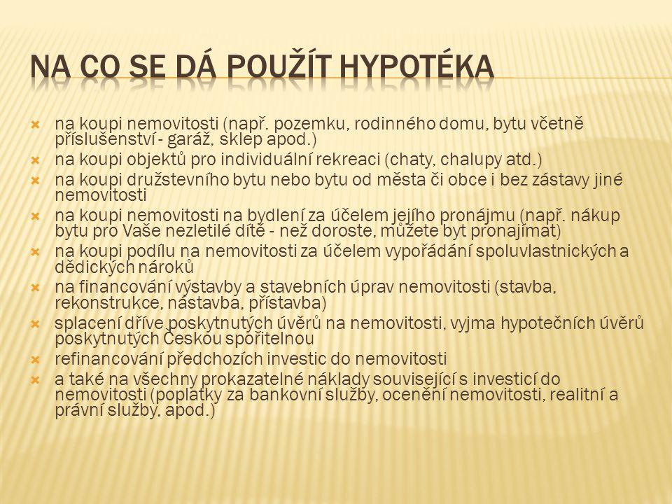 Ideální hypotéka České spořitelny s úrokovým zvýhodněním 0,5 % za pětiletou fixaci a splatnost 20 let a dalším snížením 0,5 % za aktivitu na Osobním účtu České spořitelny má na trhu velký úspěch.