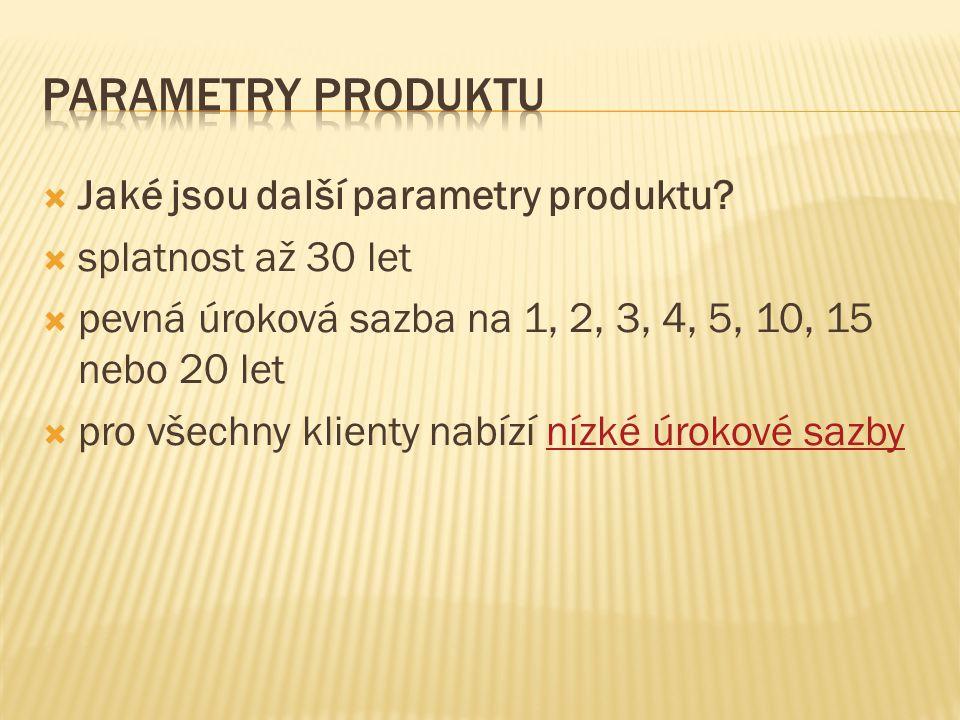  Jaké jsou další parametry produktu.