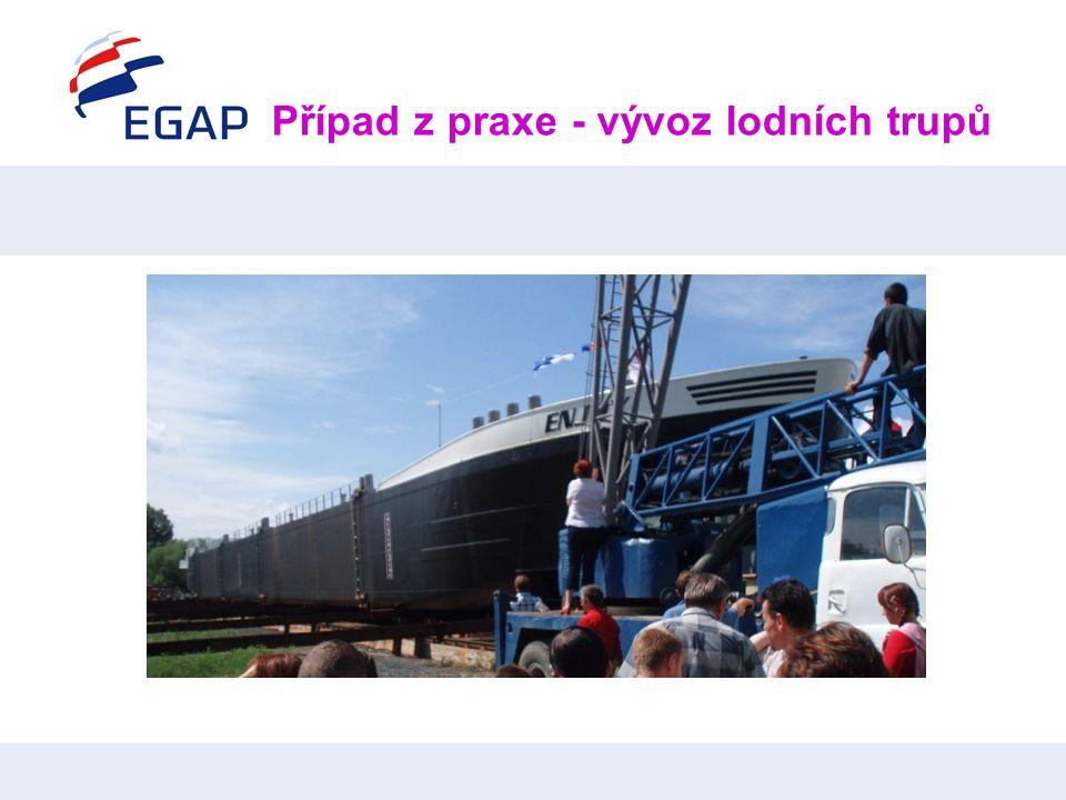Případ z praxe - vývoz lodních trupů