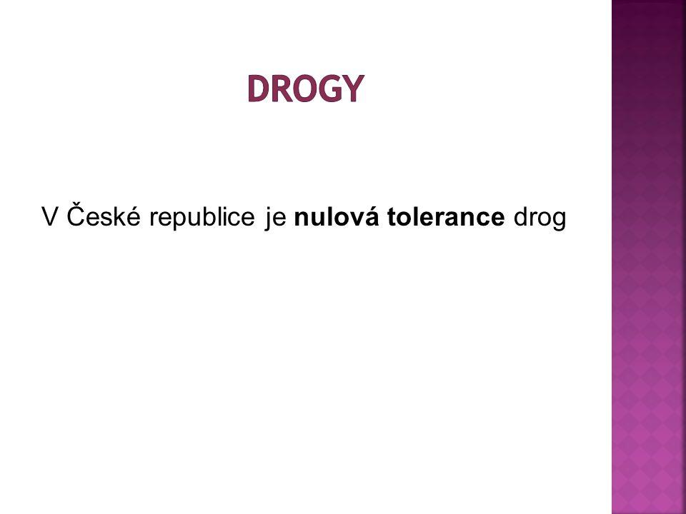 V České republice je nulová tolerance drog