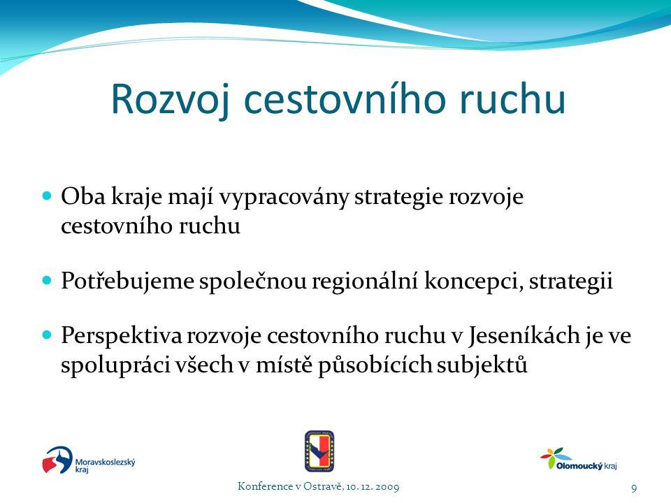 Cíle v rozvoji cestovního ruchu Konference v Ostravě, 10. 12. 200920