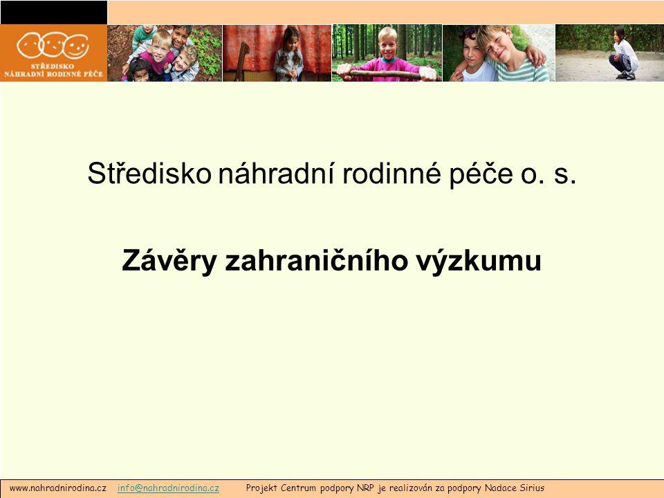 Středisko náhradní rodinné péče o. s.