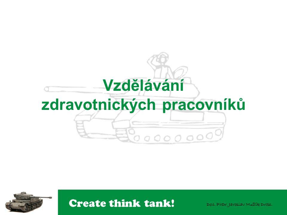 Create think tank! Doc. PhDr. Jaroslav Mužík DrSc. Vzdělávání zdravotnických pracovníků