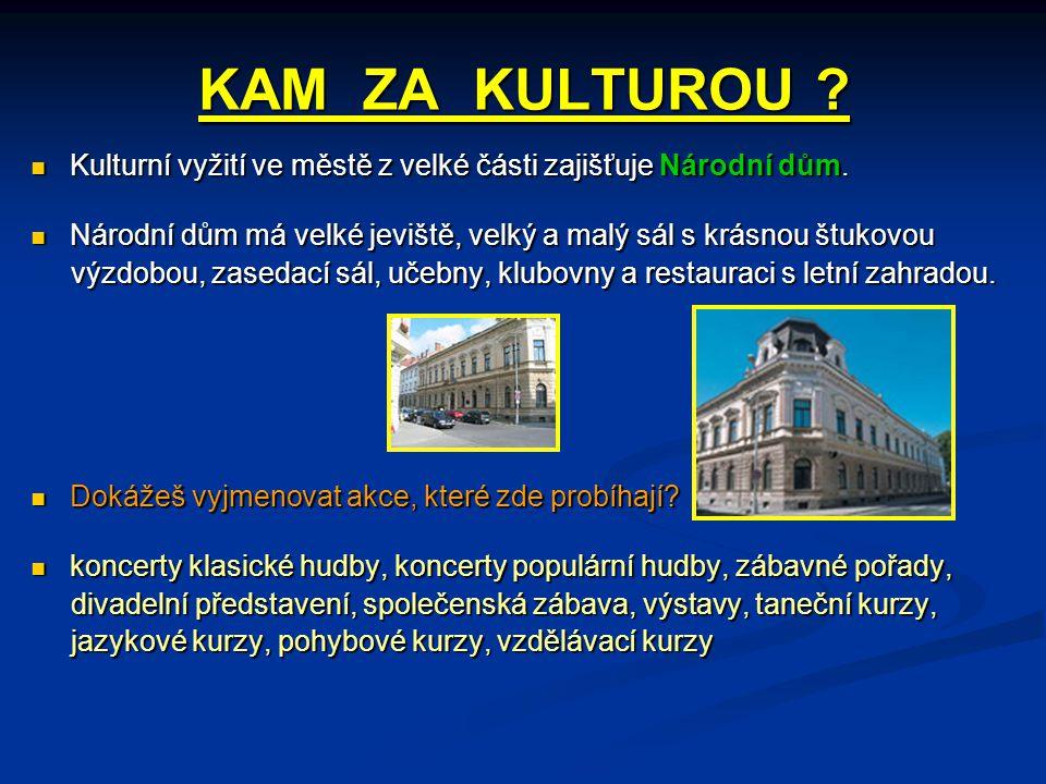 KAM ZA KULTUROU . Kulturní vyžití ve městě z velké části zajišťuje Národní dům.