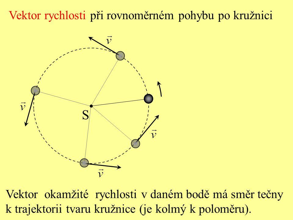 Velikost rychlosti je dána podílem velikosti dráhy  s a příslušné doby  t, za kterou hmotný bod tuto dráhu prošel. Při rovnoměrném pohybu je velikos