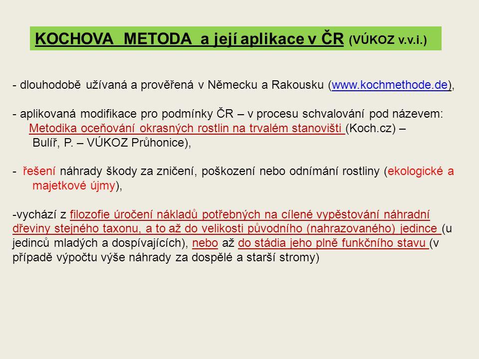 KOCHOVA METODA a její aplikace v ČR (VÚKOZ v.v.i.) - dlouhodobě užívaná a prověřená v Německu a Rakousku (www.kochmethode.de),www.kochmethode.de - apl