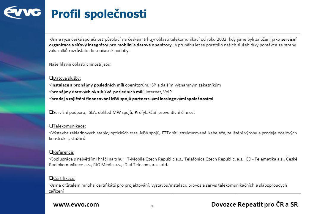 Profil společnosti  Jsme ryze česká společnost působící na českém trhu v oblasti telekomunikací od roku 2002, kdy jsme byli založeni jako servisní or