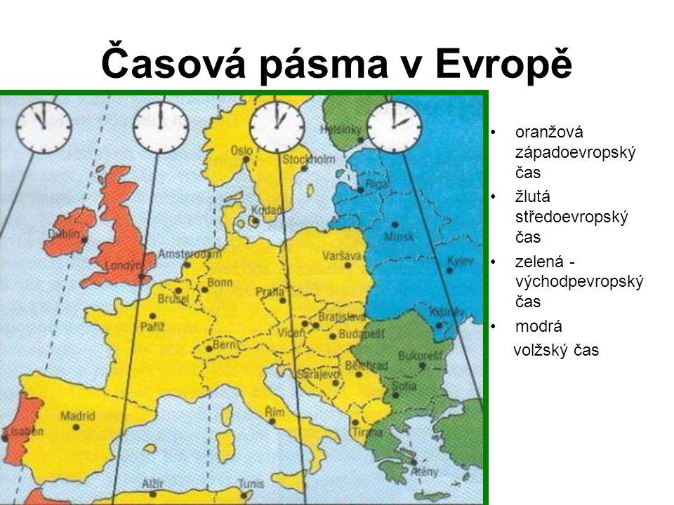 SP: Časová pásma 1.Kolik časových pásem pokrývá Afriku.