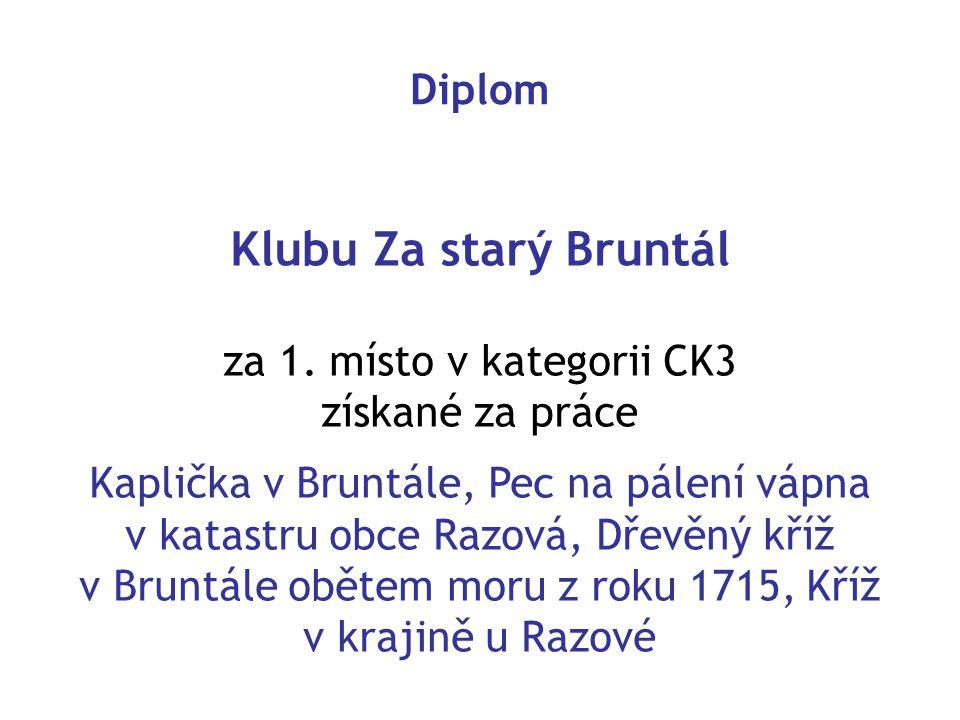 Klubu Za starý Bruntál za 1.