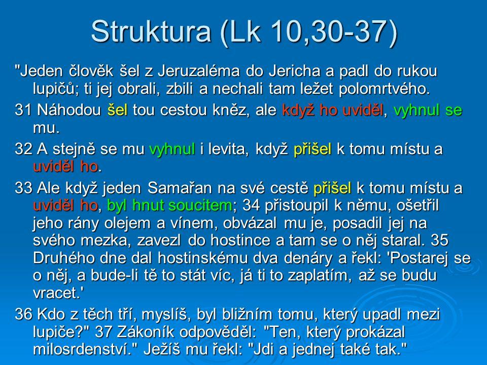 Struktura (Lk 10,30-37)