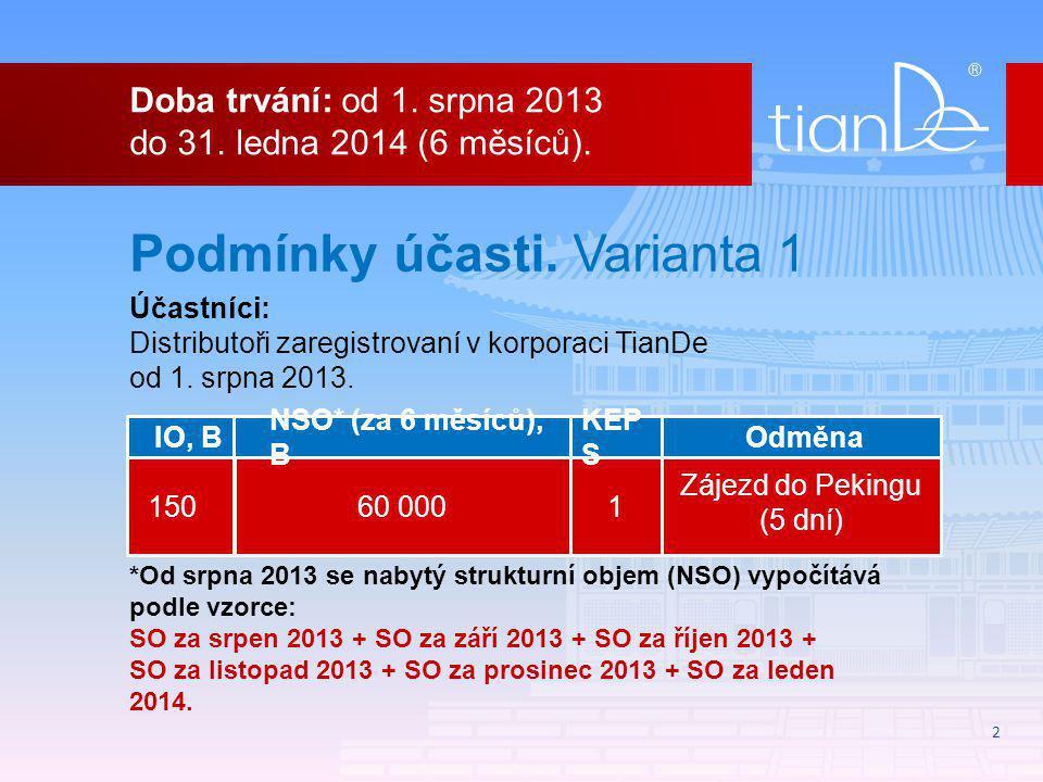 2 Doba trvání: od 1. srpna 2013 do 31. ledna 2014 (6 měsíců).