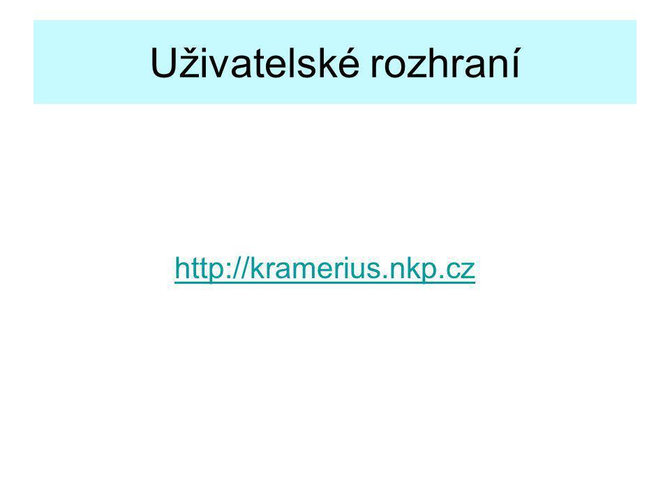 Uživatelské rozhraní http://kramerius.nkp.cz