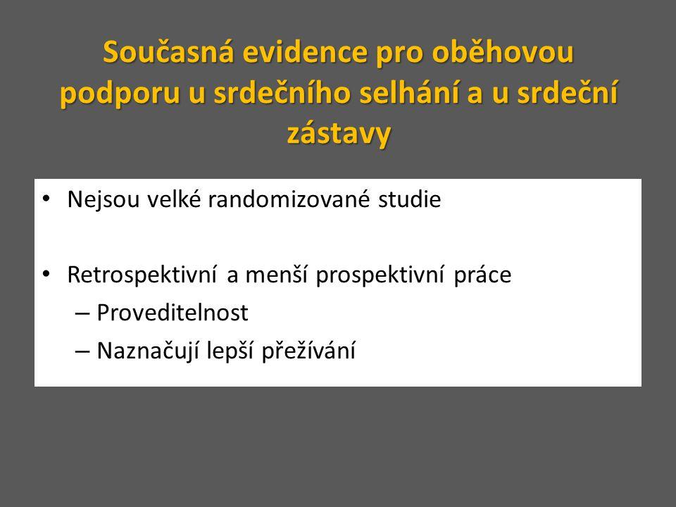 • Nejsou velké randomizované studie • Retrospektivní a menší prospektivní práce – Proveditelnost – Naznačují lepší přežívání Současná evidence pro obě