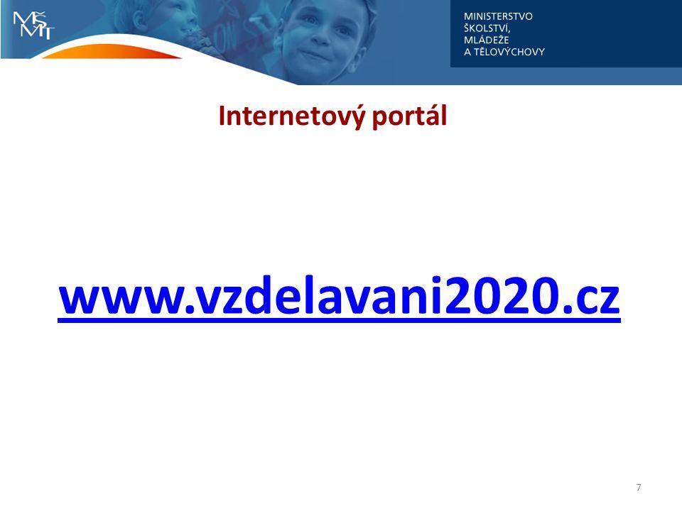 7 Internetový portál www.vzdelavani2020.cz