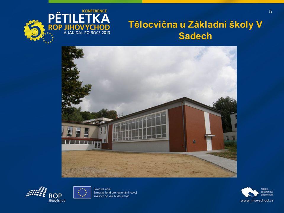 5 Tělocvična u Základní školy V Sadech