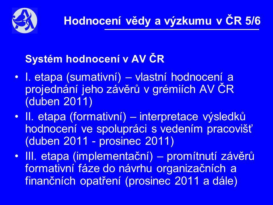"""IPn – """"Metodika hodnocení VaVaI v ČR •transparentnost, otevřenost, komplexnost •kombinace kvantitativního a kvalitativního hodnocení •respektování oborových odlišnosti •uplatnění zahraničních zkušeností a standardů •periodicita čtyř až sedmi let Hodnocení vědy a výzkumu v ČR 6/6"""
