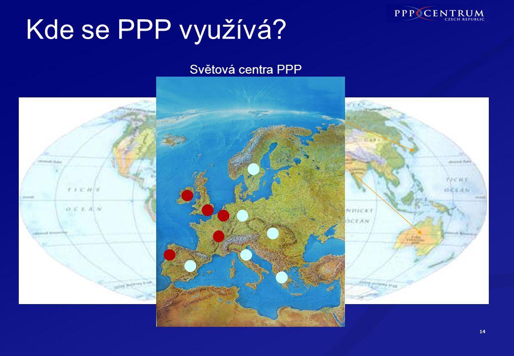 14 Kde se PPP využívá Světová centra PPP