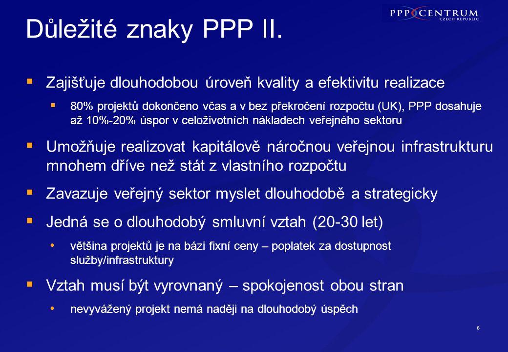 6 Důležité znaky PPP II.