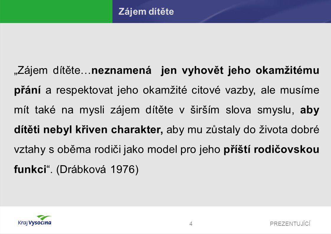 PREZENTUJÍCÍ5 Ochrana dítě v NOZ Zákon č.89/2012 Sb., občanský zákoník § 3 odst.