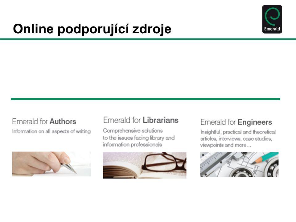 Emerald vyhledává za vás...a šetří vám čas •Vyučujete dané téma nebo hledáte rigorózní a relavantní informace k disertační prací na téma z odvětví management, engineering, informační technologie, vzdělávání nebo snad sociologie.