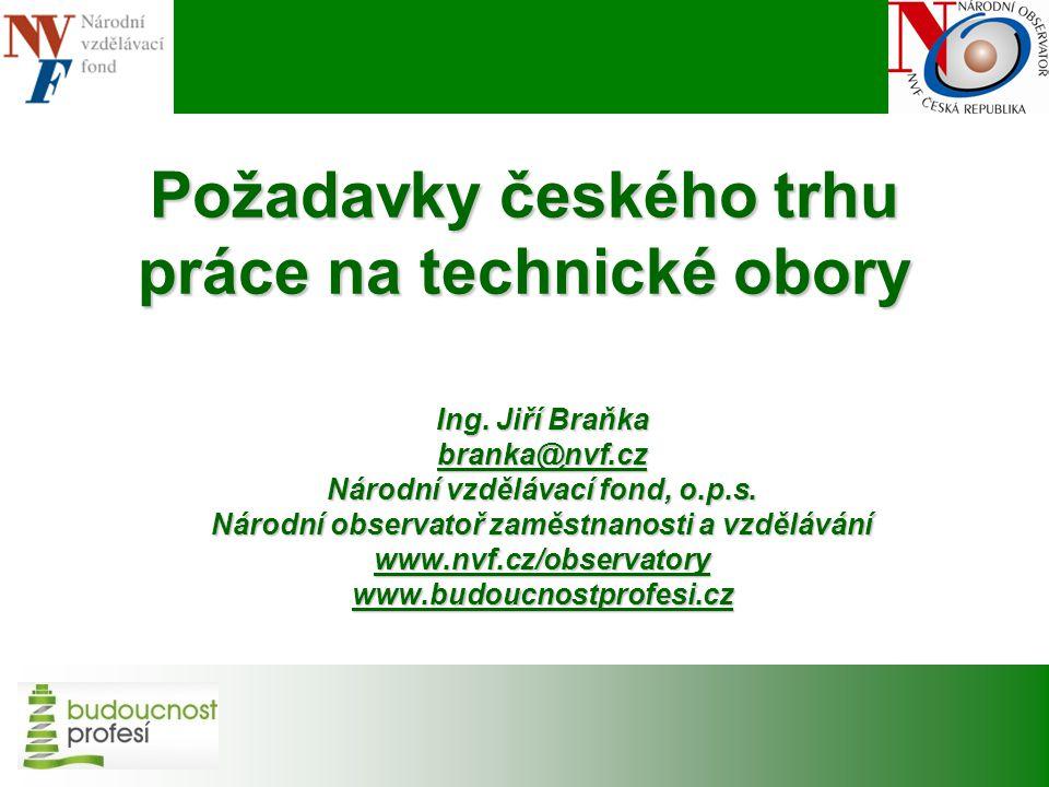 Požadavky českého trhu práce na technické obory Ing.