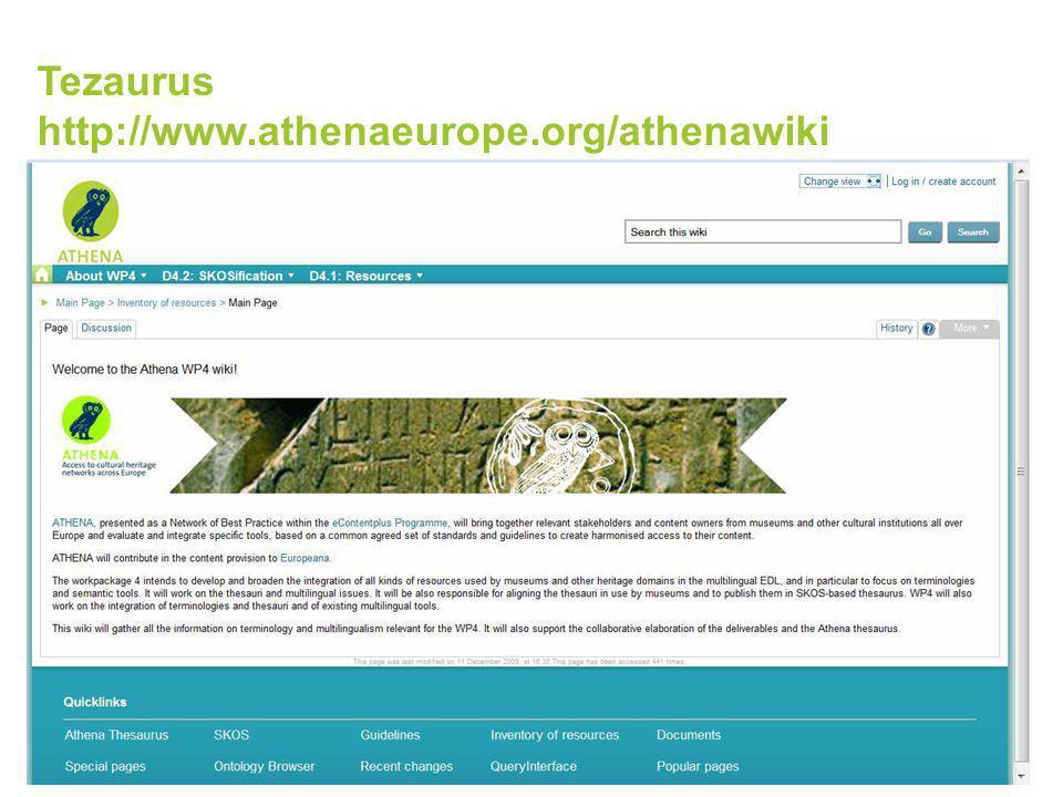 Tezaurus http://www.athenaeurope.org/athenawiki